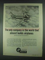 1967 Rohr Company Ad - Almost Builds Airplanes