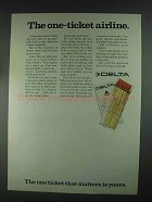 1967 Delta Airlines Ad - The One-Ticket Airline