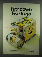 1967 Falstaff Beer Ad - First Down. Five to Go.