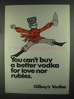 1967 Gilbey's Vodka Ad - You Can't Buy Better