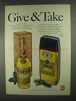 1967 Vat 69 Gold Scotch Ad - Give & Take