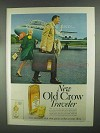 1967 Old Crow Bourbon Ad - For People Going Places