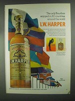 1967 I.W. Harper Bourbon Ad - Enjoyed in 110 Countries