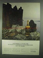 1967 Seagram's 100 Pipers Scotch Ad - Acquiring Taste