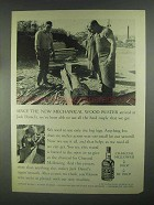 1967 Jack Daniel's Whiskey Ad - Mechanical Wood Buster