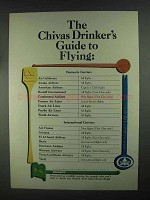 1967 Chivas Regal Scotch Ad - Guide to Flying
