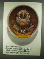 1967 Chivas Regal Scotch Ad - Paying for the Label