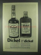 1967 George Dickel Whisky Ad - Dickel & Dickel