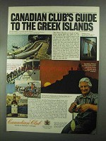 1967 Canadian Club Whisky Ad - Guide to Greek Islands