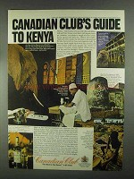 1967 Canadian Club Whisky Ad - Guide to Kenya