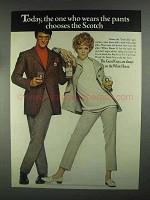1967 White Horse Scotch Ad - One Who Wears the Pants