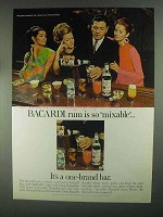 1967 Bacardi Rum Ad - Is So Mixable