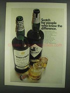 1967 Black & White Scotch Ad - Know the Difference