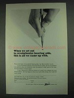 1967 Zenith Hearing Aids Ad - Set Out to Revolutionize