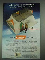 1967 Coleman Sky-Vu Tent Ad - Plenty of Big Holes
