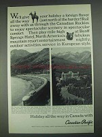 1967 Canadian Pacific Railroad Ad - Give Your Holiday