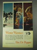 1967 Dr. Pepper Soda Ad - Winter Warmer