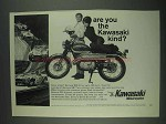 1967 Kawasaki Samurai SS Motorcycle Ad - The Kind?