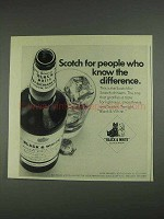 1967 Black & White Scotch Ad - People Who Know