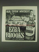 1967 Ezra Brooks Bourbon Ad - Real Sippin' Whiskey