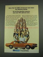 1967 Ford Mustang Ad - Americans Taken the Pledge