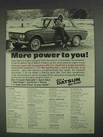 1967 Datsun Sport Sedan Ad - More Power To You