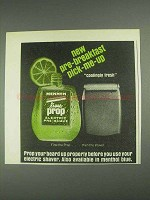 1967 Mennen Lime Prop Electric Pre-Shave Ad