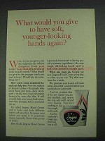 1967 Jergens Hand Cream Ad - Soft Younger-Looking