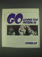 1967 Stardust Hotel Ad - Go Where the Action Is