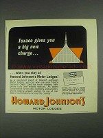1967 Howard Johnson Motor Lodges Ad - Texaco Charge