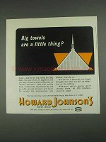 1967 Howard Johnson Motor Lodges Ad - Big Towels