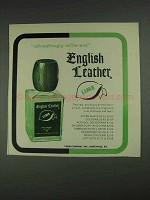 1967 English Leather Lime After Shave Ad - Different