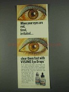 1967 Visine Eye Drops Ad - Eyes Red, Tired, Irritated