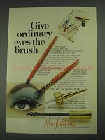 1967 Maybelline Makeup Ad - Ordinary Eyes the Brush