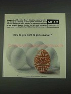 1967 Mead Color-Corr Printing on Containers Ad