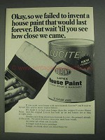1967 Du Pont Lucite Latex House Paint Ad - Invent