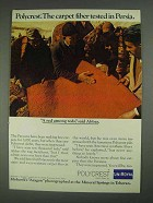 1967 Uniroyal Polycrest Fiber Ad - Tested in Persia