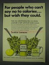 1967 Sunkist Lemons Ad - Can't Say No To Calories