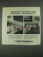 1967 Motorola Car Stereo Tape Player Ad
