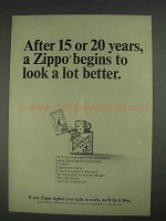 1967 Zippo Lighter Ad - After 15 or 20 Years