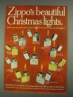 1967 Zippo Lighters Ad - Beautiful Christmas Lights
