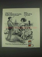 1967 Ban Spray Deodorant Ad - Spend All Day at Beach