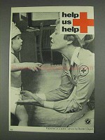 1967 American Red Cross Ad - Help Us Help