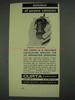 1967 Curta Calculator Ad - Miniature All Purpose