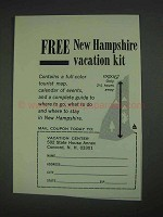1967 New Hampshire Tourism Ad
