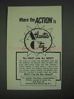 1967 Atlantic City New Jersey Ad - Where the Action Is
