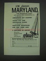 1967 Maryland Department of Economic Development Ad