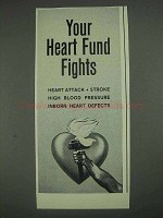 1967 Heart Fund Ad - Your Heart Fund Fights