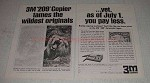 1967 3M 209 Copier Ad - Tames the Wildest Originals