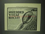 1902 National Food Shredded Whole Wheat Biscuits Ad
